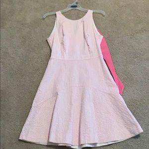 J crew pink seersucker dress